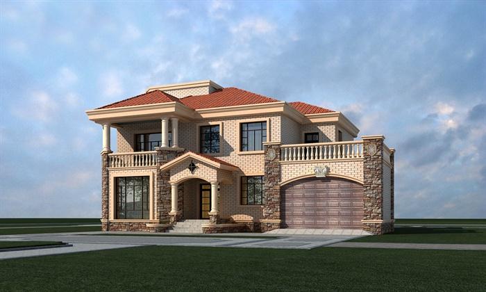 简欧风别墅建筑设计3dmax模型及效果图