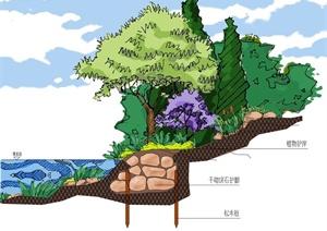 8种生态型护岸PSD分层图