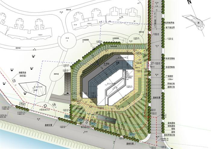 某现代滨水城市规划设计cad方案