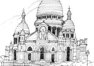 64张手绘建筑方案图图片