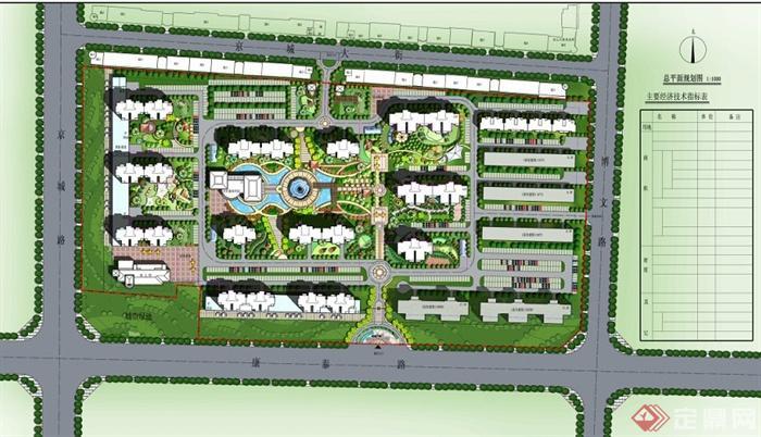 某住宅小区CAD平面及彩平图