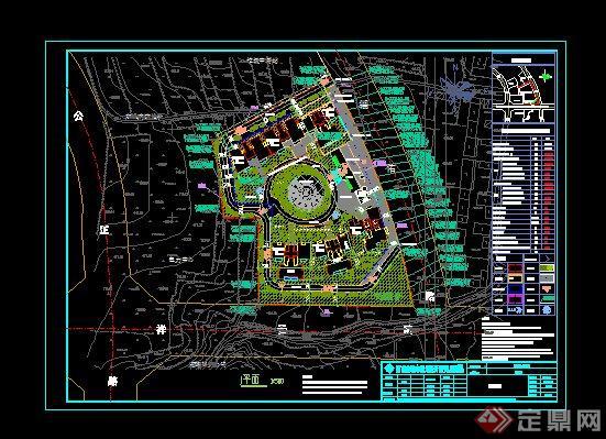 区项目规划设计cad总平面图图片