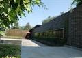 围墙,景墙,文化墙,石材铺装,遮阳伞