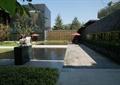 景观水池,雕塑喷泉,文化墙,石材铺装