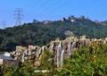 瀑布,岩石景观,山体