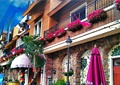 住宅建筑,遮阳伞,遮雨棚,庭院灯