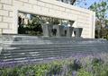 喷泉水池景观,台阶水景,门廊,花卉植物,住宅景观