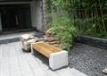坐凳,木凳,景石,鹅卵石,矮墙,石材铺装,石头