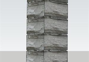 石柱景观柱SU(草图大师)模型
