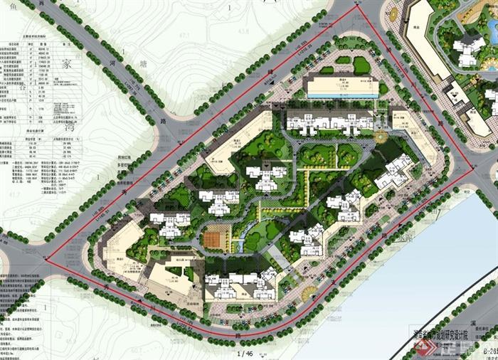 小区规划及建筑单体设计高清图片