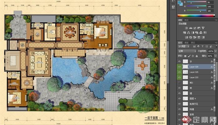 农村做四合院房子的设计图展示