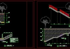 园林景观简易台阶施工图