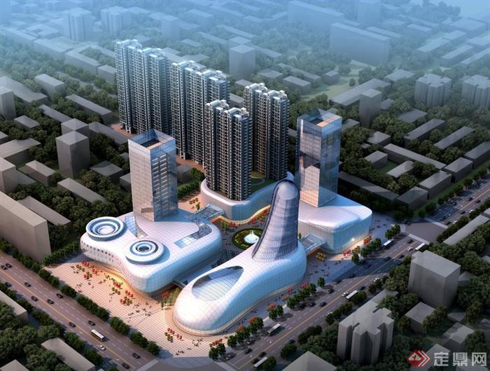 现代城市综合体建筑设计效果图[原创]