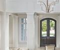 吊灯,沙发,茶几,花瓶插花,地毯,地面铺装,栏杆,客厅