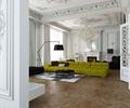 沙发,茶几,地灯,地面铺装,背景墙,水晶吊灯,天花吊顶,隔断墙,客厅