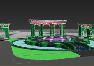 园林景观节点门廊与廊架设计3DMAX模型