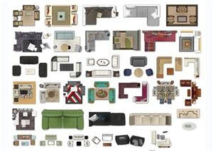 30多款沙发茶几psd平面素材