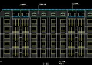 五层砖混住宅楼(两单元一梯两户三室两厅一厨一卫)毕业设计