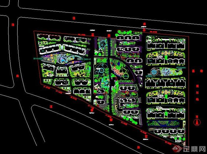某小区景观植物设计总平面图[原创]