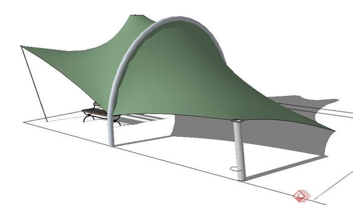 较具特色的膜结构设计su模型(张拉膜),该模型造型美观,设计有创意,该模型制作详细,有材质贴图,建筑具有特点,风格明确详细,内容丰富,欢迎借鉴及下载使用。