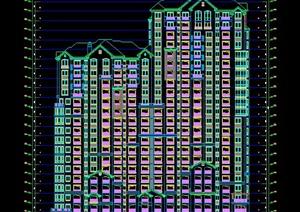 某简欧高层住宅建筑设计方案图