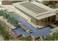 展览馆,手工模型,景观水池