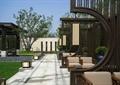 廊架,休闲桌椅,园路,地面铺装,地灯,草坪,住宅景观