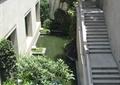 楼梯,石栏杆,水池景观,种植池,景观树