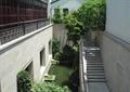楼梯,石栏杆,水池景观,景观树