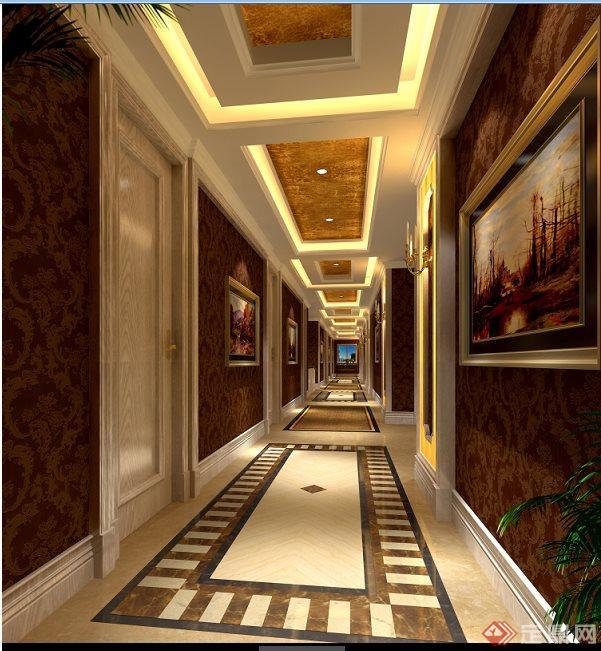欧式风格茶楼室内设计方案及效果图
