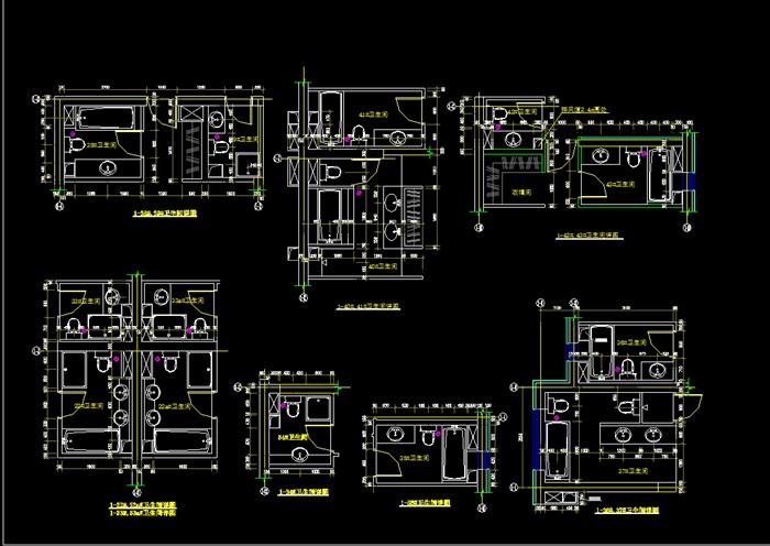 厨房和卫生间平面图