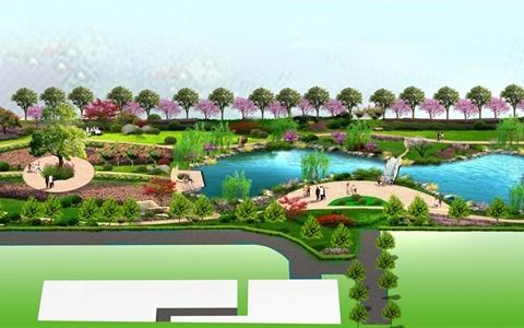某游園綠化景觀設計