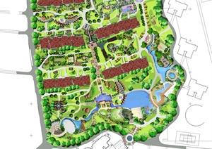 某住宅区规划彩平图psd格式