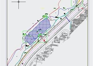 水小区规划设计cad总平面图-方案图DWG园林景观设计方案效果图设图片