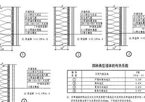 建筑節點不同氣候墻體構造設計PDF詳圖