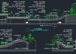 园林景观节点水池驳岸设计CAD施工图