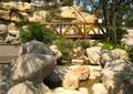 自然石,木桥,石头,景石