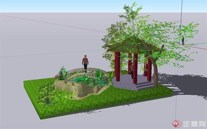 盆景 盆栽 平面图 植物 700_437
