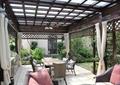 廊架,玻璃廊架,沙发茶几,桌椅组合,廊架柱