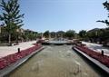 喷泉水池景观,种植池,花卉植物,景观树,住宅景观