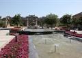 喷泉水池景观,种植池,花卉植物,景观柱,住宅景观