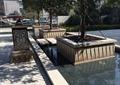 水池景观,树池,灯箱,灯柱,住宅景观