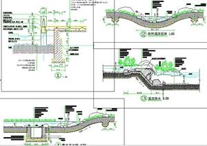 4款水系驳岸设计CAD详图