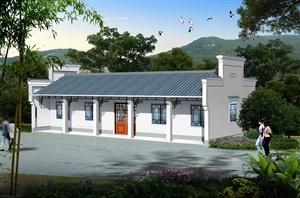柳州市天山公园管理房、公厕及垃圾转运站效果图