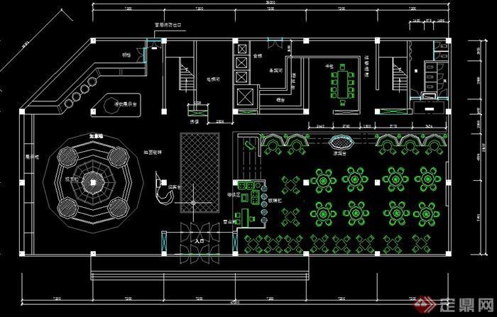 5层饭店装修平面布置cad方案图[原创]