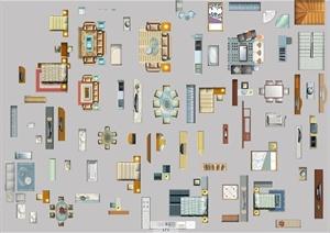 建筑户型家具的设计PSD平面图