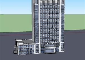 现代风格办公楼SU(草图大师)模型