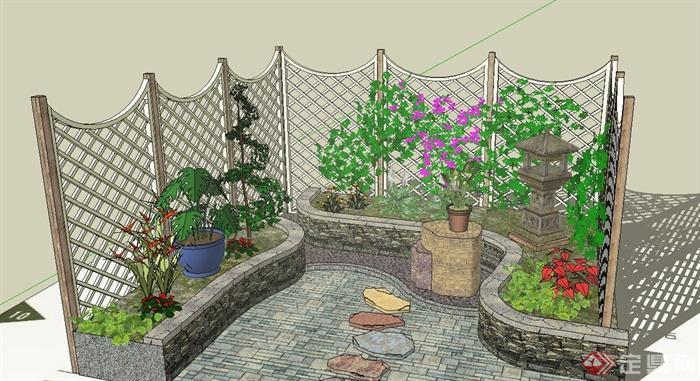 绿篱平面图手绘