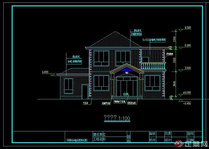 两层别墅设计cad全套图纸