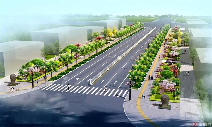 韩城芝川新区道路景观设计